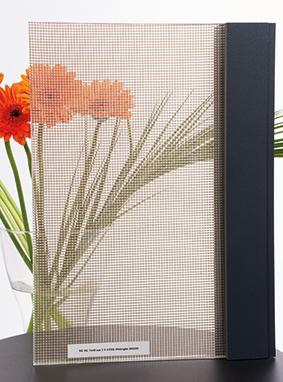 Verbundglas in Textiloptik bei Schwanglas