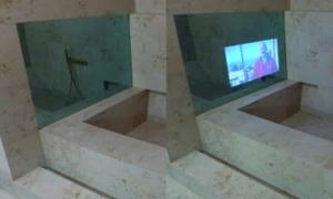 Teiltransparente Spiegel bei Schwanglas